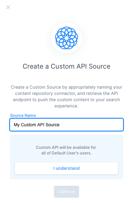 When creating custom sources, they will be accessible by all users. This agreement makes it clear that people than just you will be able to access and search the content source.