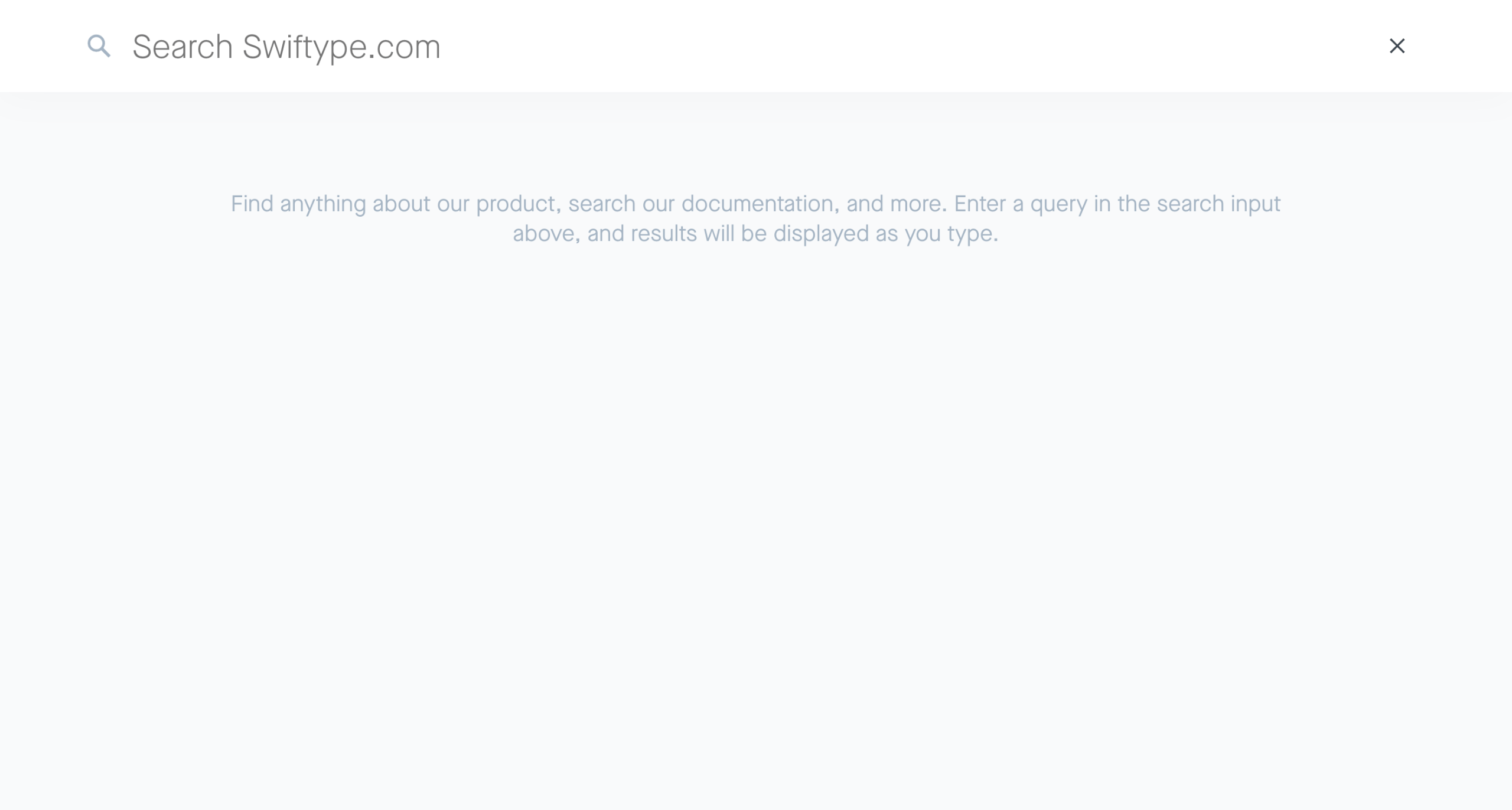 A customized search field from swiftype.com - it is slick, minimal, and has character.